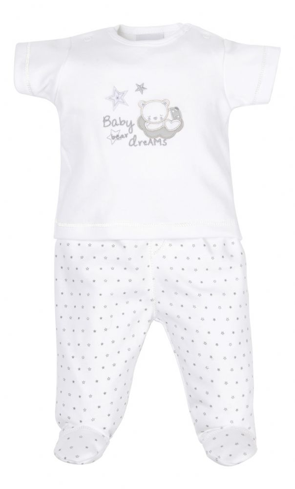 AV1874 Tiny baby bear top & leggings (white)